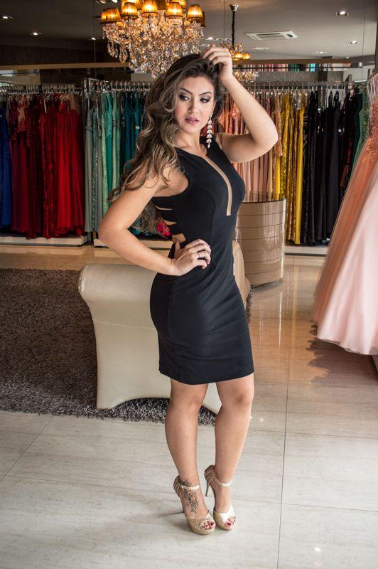 Vestido Curto Preto - Saia Justa Moda Festa - Vestidos e Acessórios - Curitiba