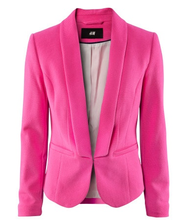 H&M : pink fitted jacket in piqué fabricLight Pink Blazers, Hot Pink Blazers, Springsummer Fashion, Style, Hm Blazers, Hot Pink Clothing, Polyvore Closets, Pink Fashion, Hot Pink Fit
