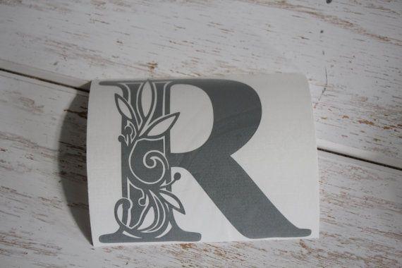 Vinyle monogramme initiale monogramme sticker par EntropySigns