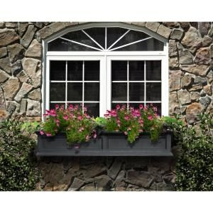 Mayne Fairfield 11 in. x 60 in. Plastic Window Box 5824B at The Home Depot - Mobile
