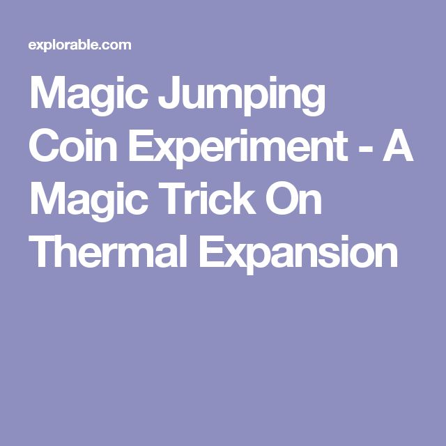 Magic Jumping Coin Experiment - A Magic Trick On Thermal Expansion