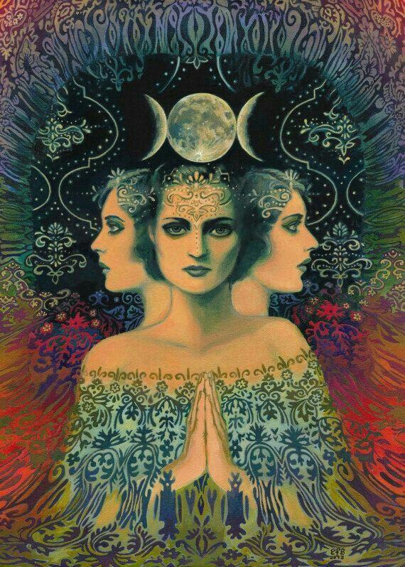Feminine Faces of the Moon