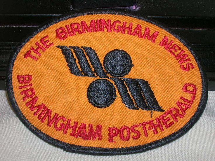 "Sew On Patch The Birmingham News Birmingham Post Herald  4"" X 3"" Oval"
