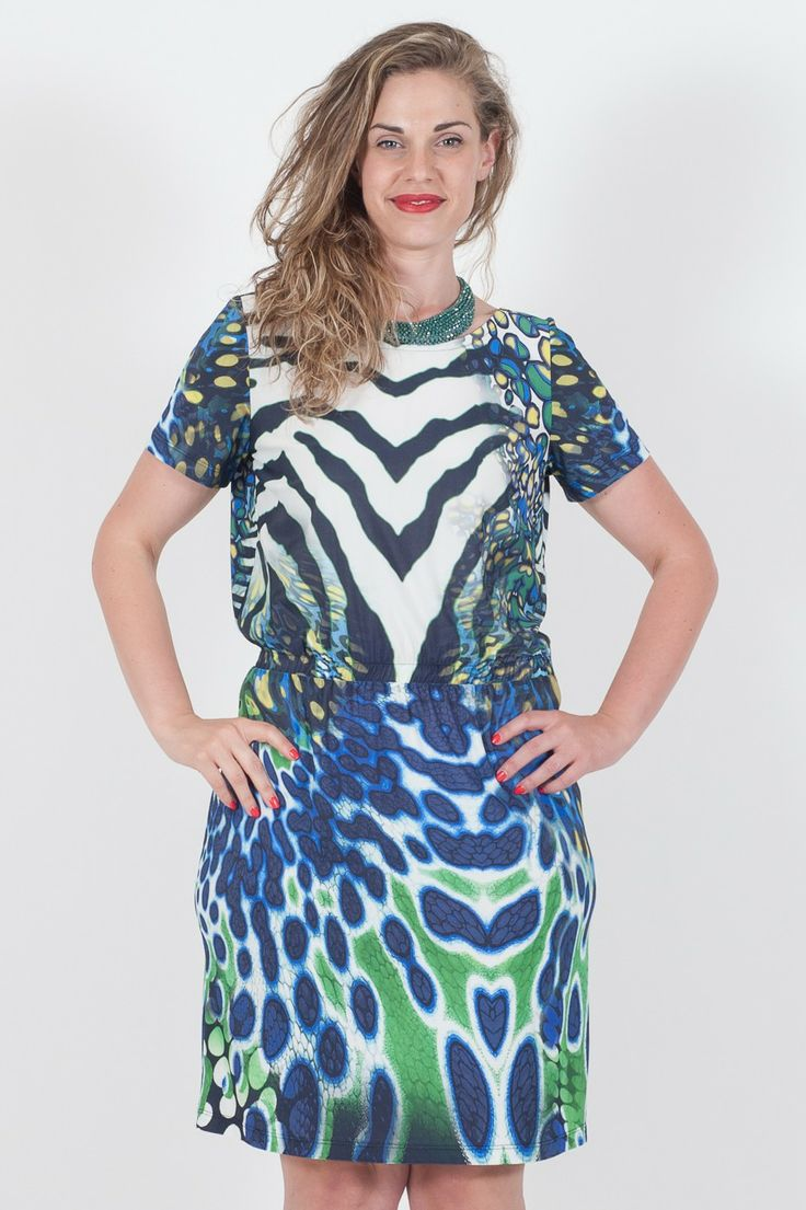 #Abito #Superior da #donna in Jersey Fantasia Zebrata  - Fantasia Decò - Paricollo - #Vestibilitàmorbida - 90% Viscosa 10% Elastan - Made in Italy