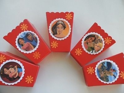 Princesa Elena de Avalor. Party Favor.. 10 cajas de palomitas de maíz