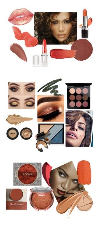 """Warm Autumn Makeup"" by stylist-vera on Polyvore featuring coloranalysis, warmautumn, autumnmakeup, type3, beauty, Jennifer Lopez, Avon, Marc Jacobs, Bobbi Brown Cosmetics and Lipstick Queen"