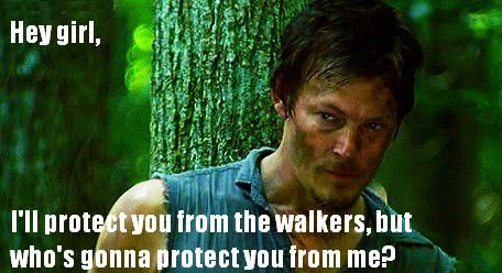 "the funniest ""HEY GIRL"" meme I've seen... courtesy of Daryl from Walking Dead"