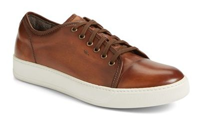 Keep it casual but classy in these rich leather, Italian-made Acadia Sneakers.  #mensshoes #sneakers #leathershoes