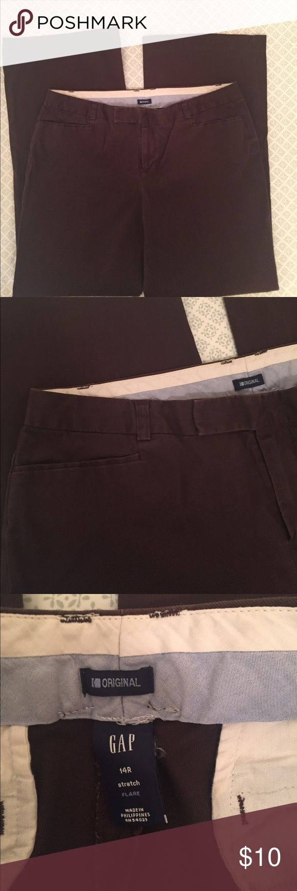 Brown slacks In excellent condition! Chocolate brown in color GAP Pants