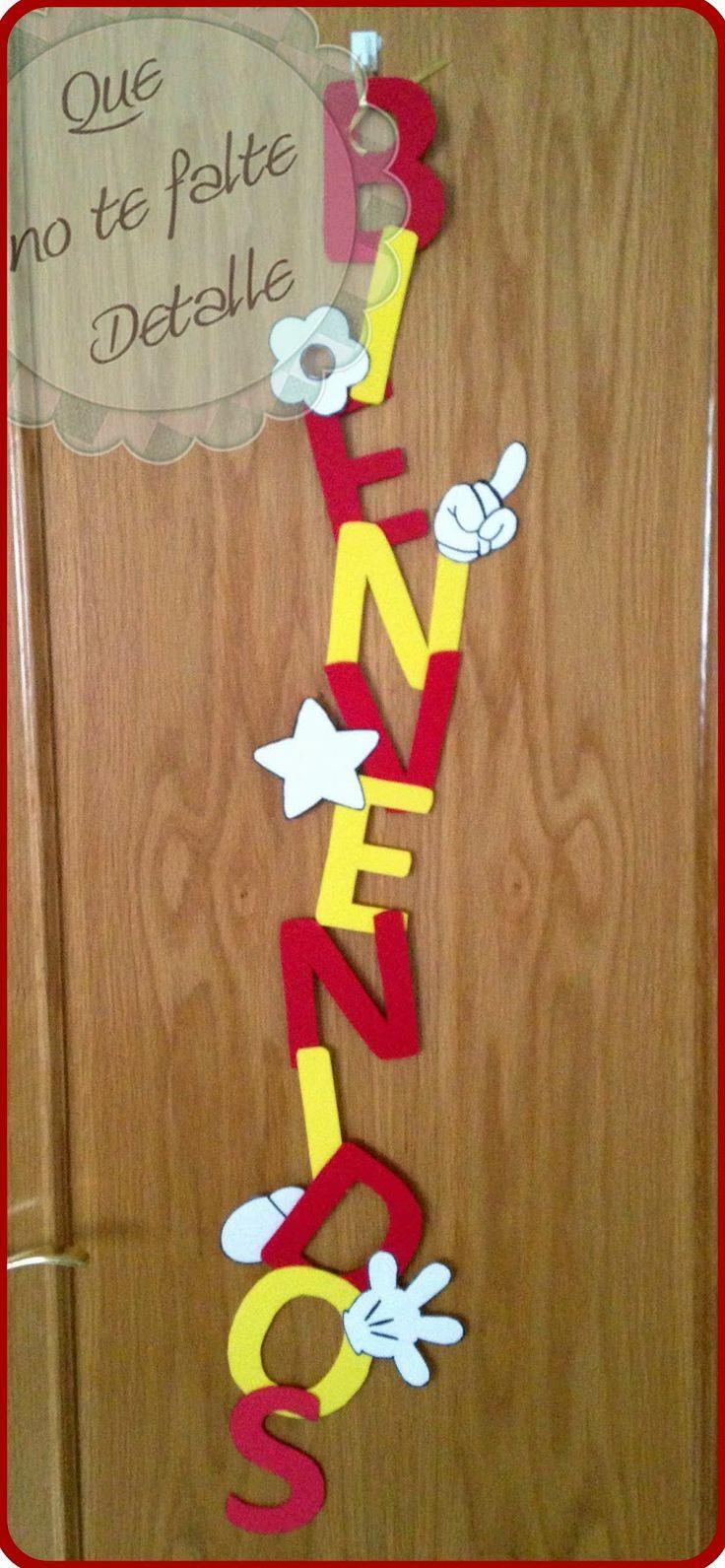 #Cartel de Bienvenida a la Mickey Fiesta # cartel bienvenida foam #cartel bienvenida goma eva