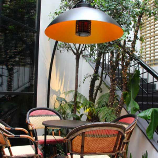 Lampe Chauffante Sur Pied Dome Arc Inclus 25 De Chaleur