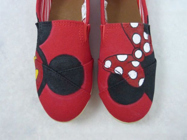 Custom Hand Painted Shoes -Mickey and Minnie Ears