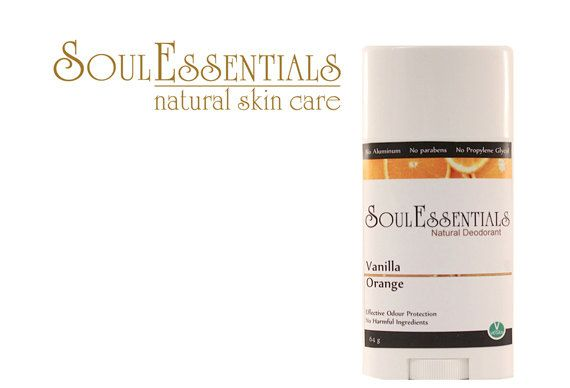 Aluminum Free Natural Deodorant  Vanilla by SoulEssentialsSkin