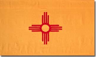 The colors on NM state flag red and yellow,The Zia Indians of NM regard the Sun as sacred(a red circle with groups of rays pointing in four directions)Four the sacred number,the four points from the circle,each bars,the four points of the compass,the four seasons of the year,four periods of each day,the four seasons of life, childhood,youth,middle years,old age,belief that with life comes four obligations:one must develop,strong body,clear mind,pure spirit, a devotion to the welfare of…