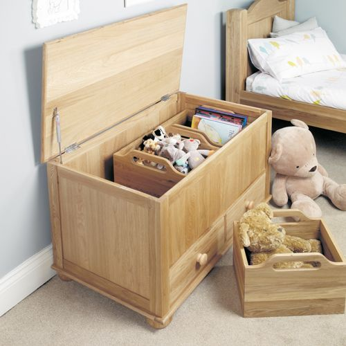 Amelie Oak Toy box Blanket Box #home #furniture #oak #wood #interior #decor #design #bedroom #storage #box #blanket #toy