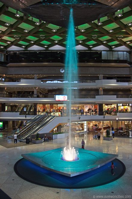 Fountain in the Complexe Desjardins in the Underground City (RÉSO) of Montreal