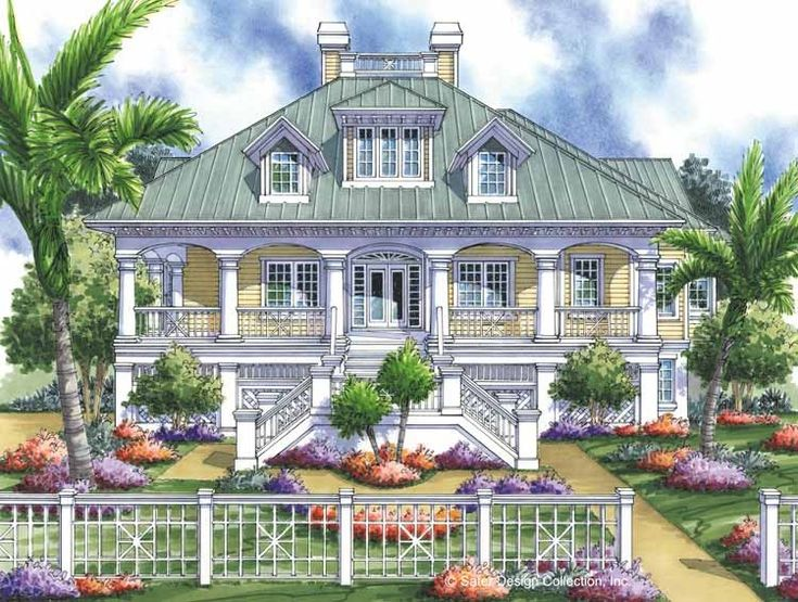 DREAM BEACH HOUSE!!! Low Country House Plan with 2756 Square Feet and 3 Bedrooms from Dream Home Source | House Plan Code DHSW17102