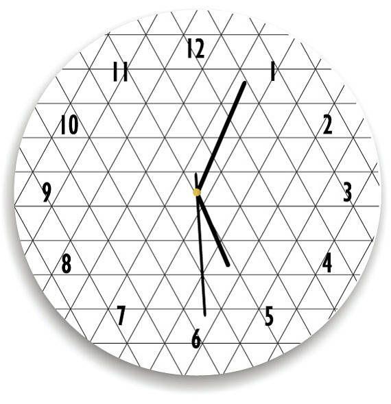 Geometric Lines Wall clock Minimalist Kids Room Modern