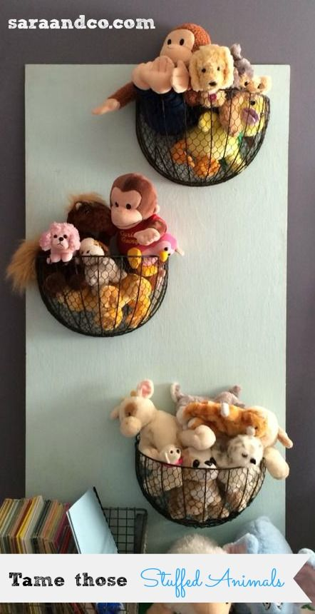 Stuffed animal storage and organization ideas