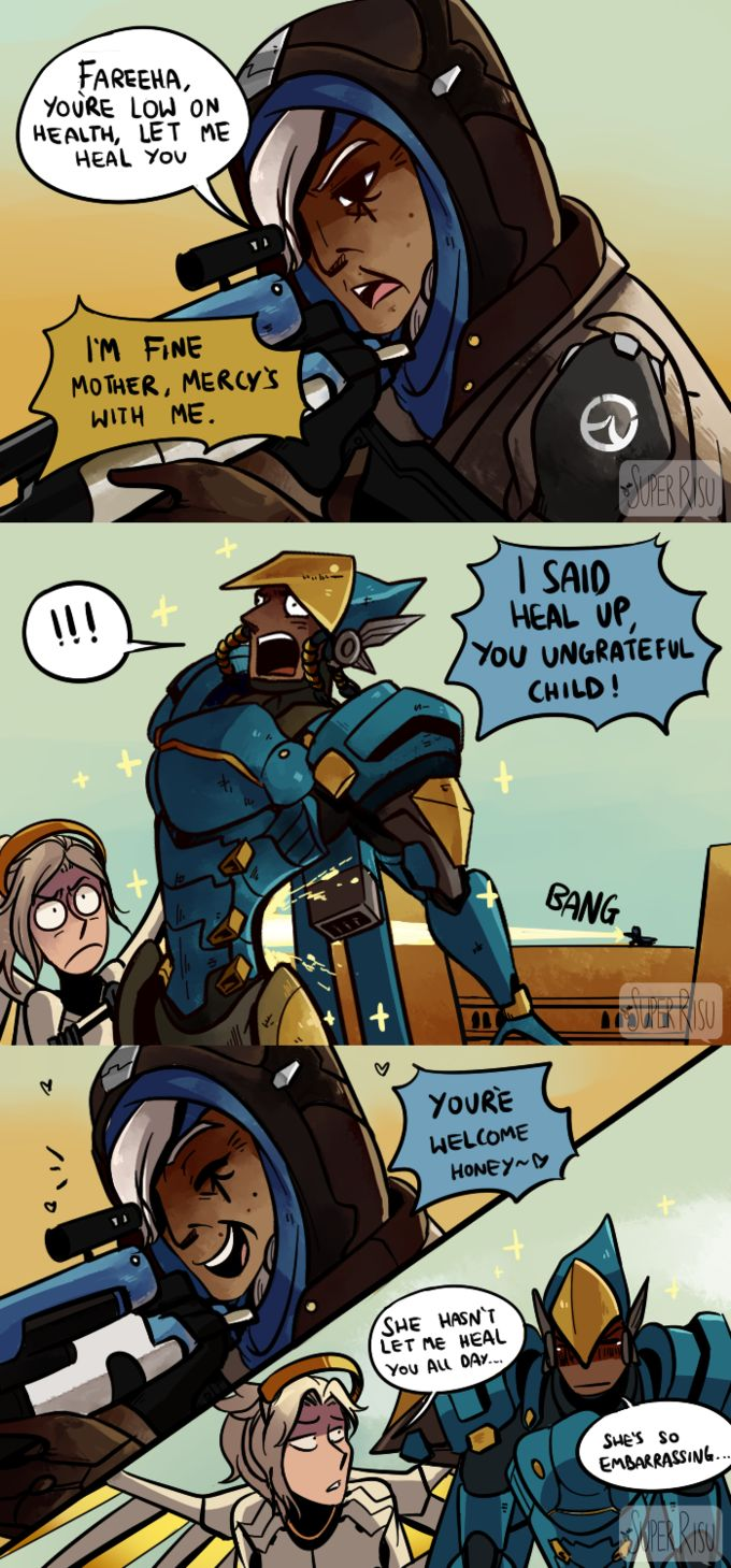 Caring Mother Mercy, Pharah and Ana