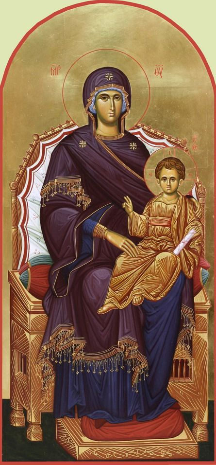Ново-Тихвинский женский монастырь: Божья матерь