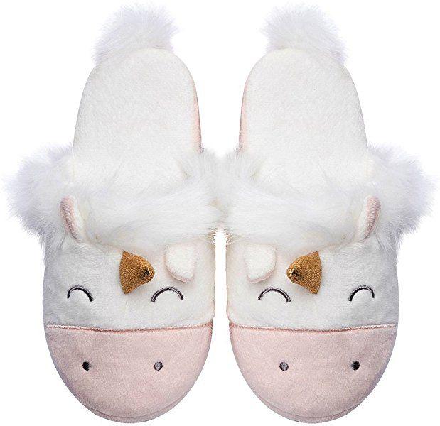 Unicorn Animal Fleece Slippers