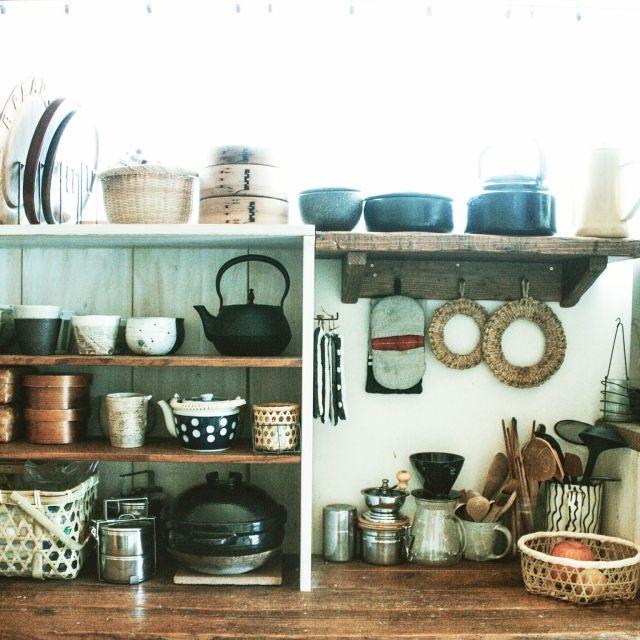 キッチン収納/かまどさん/生活感/和/レトロ/DIY…などのインテリア実例 - 2015-04-22 05:48:25 | RoomClip(ルームクリップ)