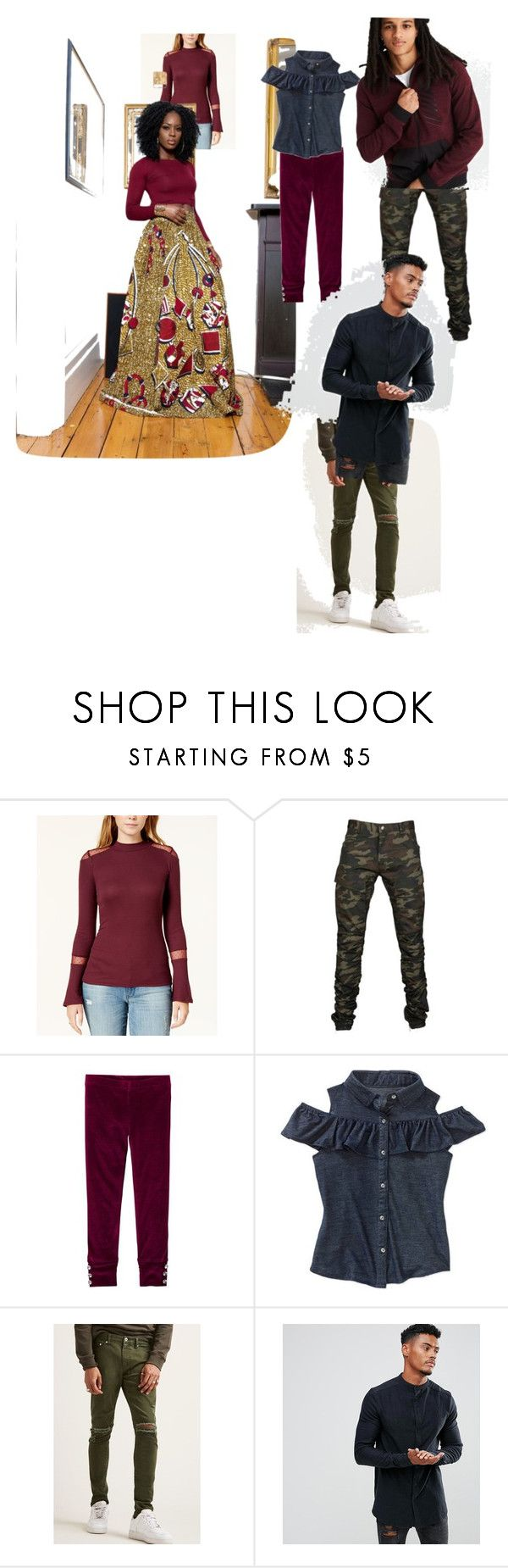 """Winter Family Photo"" by candacewilliams-ii ❤ liked on Polyvore featuring Maison Jules, 21 Men, Sik Silk and American Eagle Outfitters"