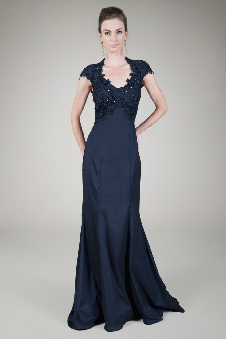 16 best Navy Evening Gowns images on Pinterest | Formal evening ...