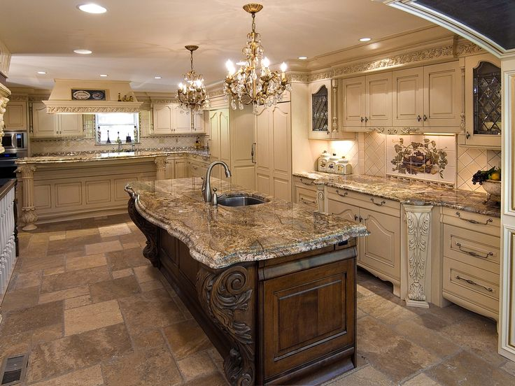 Ornate kitchen cabinets custom made ornate kitchen by for Custom built kitchen cabinets