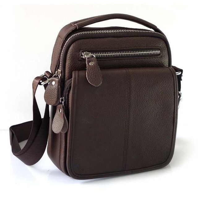 Fashion Genuine Leather Men's Messenger Bags Man Portfolio Office Bag Quality Travel Shoulder Handbag for Man 2016 Dollar Price