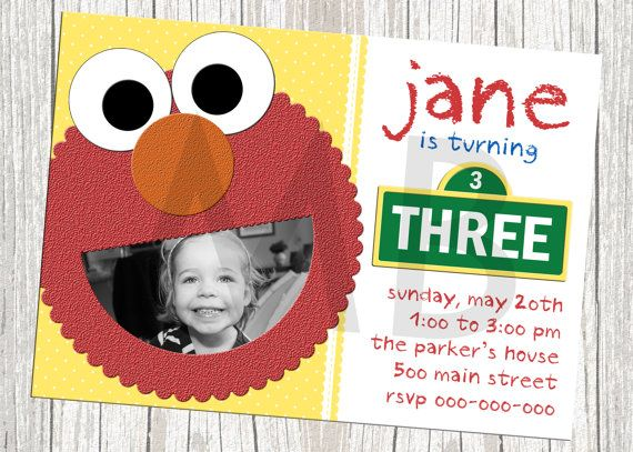 The 25 best Elmo birthday invitations ideas – Custom Elmo Birthday Invitations