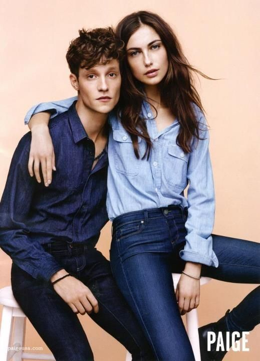 Love denim on denim!     The Essentialist - What's Hot In Fashion Advertising: Paige Ad Campaign Fall/Winter 2012/2013