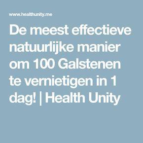 De meest effectieve natuurlijke manier om 100 Galstenen te vernietigen in 1 dag!   Health Unity