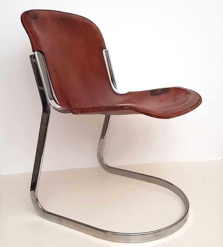Cognac saddle leather chair by Willy Rizzo for Cidue ca.1970's. Distributed in the US by Stendig. #LeatherSofa