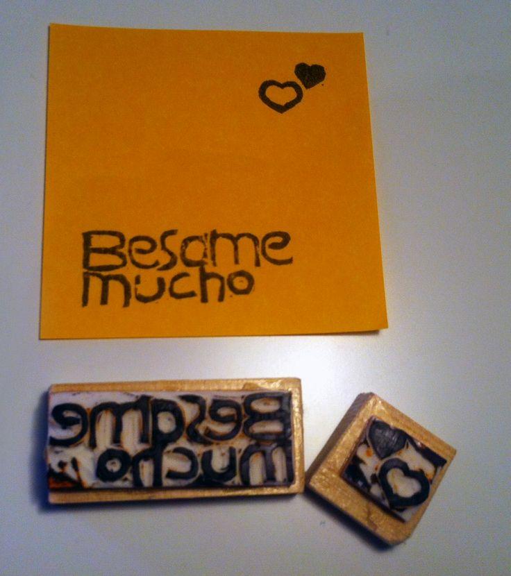 collezione #DezaYeppa #BesameMucho  Timbri di gomma #RubberStamp #handmade www.facebook.com/DezaYeppa www.DezaYeppa.etsy.com