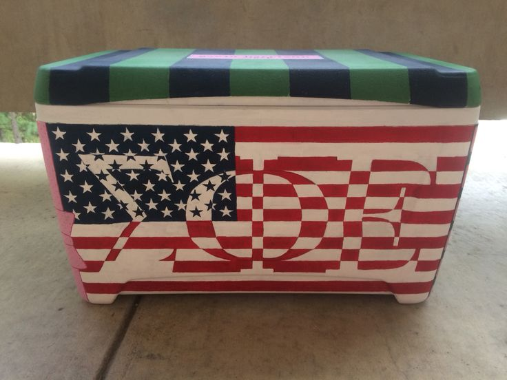Sigma phi epsilon cooler painting #sigep #cooler #americanflag