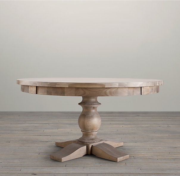 17th C Monastery Round Dining Table Restoration Hardware 60