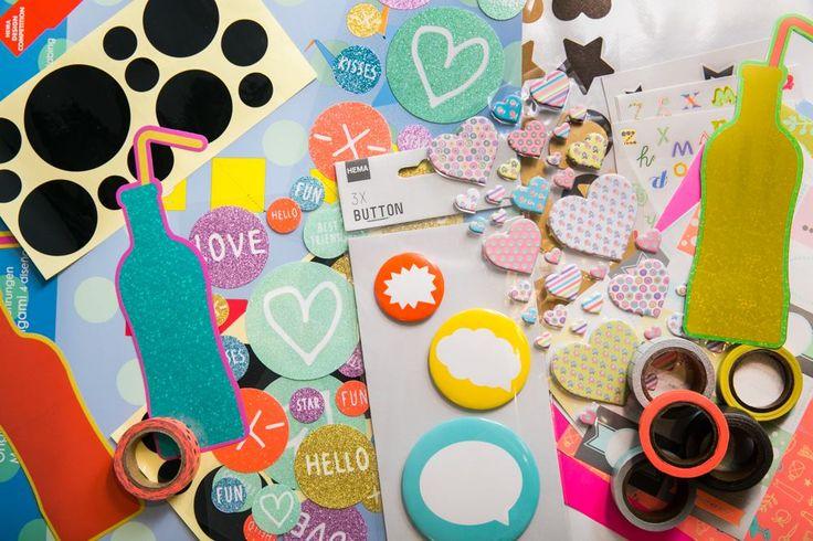 Met onze stickers, buttons en washi tapes maak je van je schoolspullen helemaal je eigen ding.