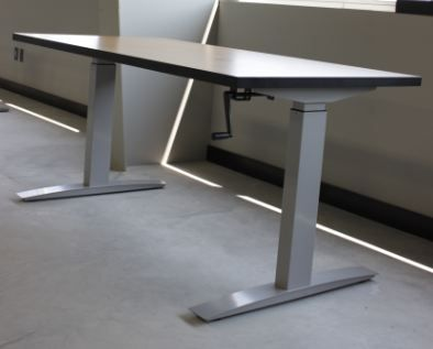 two leg crank base symmetry office table solutions adjustable desk india singapore height uk
