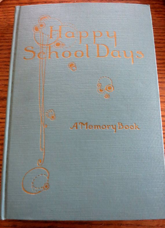 School Memory Book 1920s School Memory Book Happy by mybonvivant