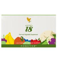 Nature's 18 contains 18 different fruit and vegetables in a chewable tablet and just 4 tablets daily provide the antioxidant equivalent of eating 5 servings of fruit and vegetables. Contains rutin helping to support healthy joint function and circulation