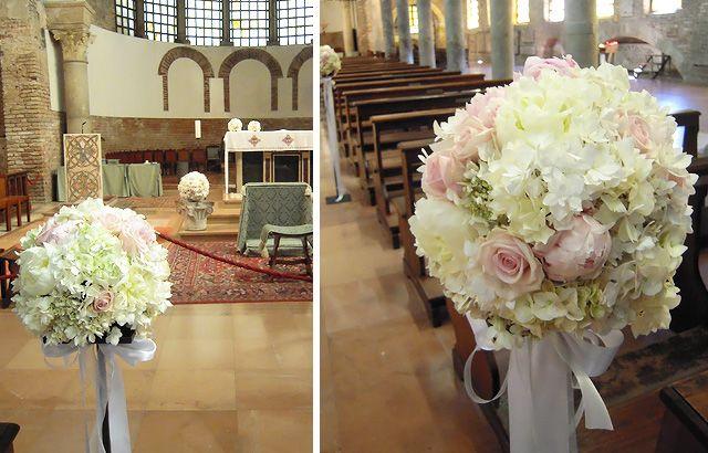 Ortensie Matrimonio Costo : Composizioni a sfera di ortensie e rose wedding dream
