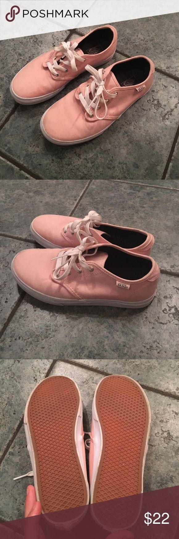 Coral vans. Like new! Bright and fun coral colored vans. Missy size 5.5 which will fit women's size 7. Vans Shoes Sneakers