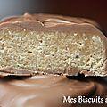 Carrés biscuits,caramel et chocolat.