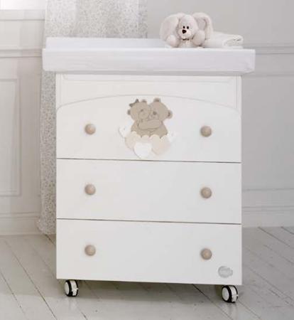 Baby Expert Пеленальный комод Tenerezze белый/светло-коричневый  — 33970р.  Пеленальный комод Tenerezze белый/бледно-коричневый