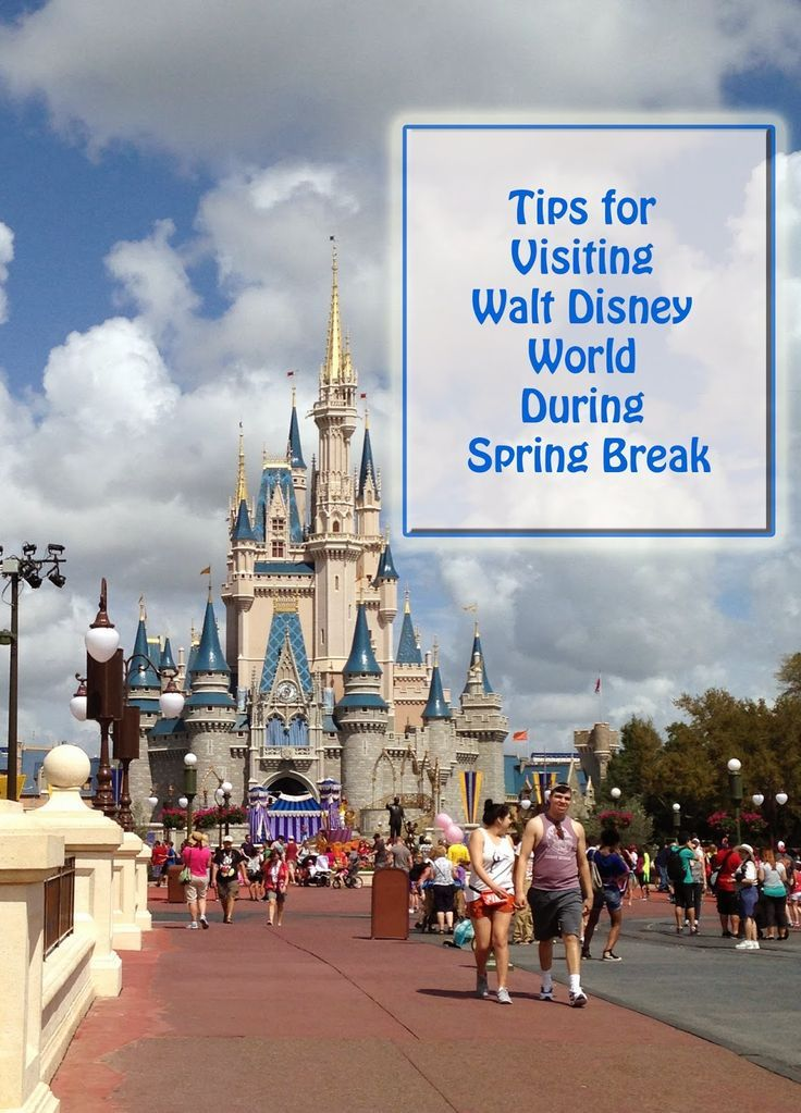 Best Tips for Visiting Walt Disney World During the busy Spring Break season - great suggestions that work well for any time the parks are super-crowded!