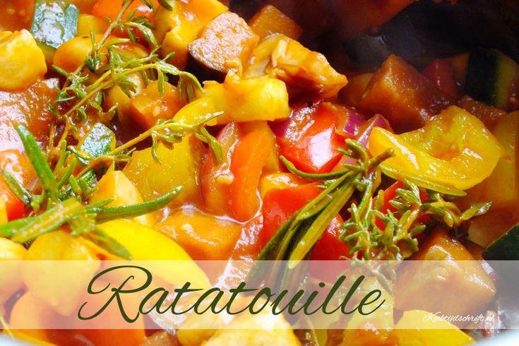 Ratatouille, een heerlijk en makkelijk recept om de lekkerste ratatouille te maken. Ratatouille is een Frans groenten gerecht die je als voorgerecht of