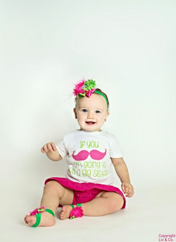 Check out this item in my Etsy shop https://www.etsy.com/listing/165387704/cute-big-sister-t-shirt-pregnancy-reveal