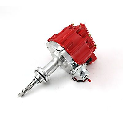 Mopar-Chrysler-SB-318-340-360-65K-Coil-HEI-Electronic-Distributor-Red-Cap